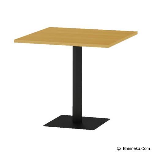 HIGH POINT Monza Square Table [RT4R80O] - Oxford Cherry - Meja Restoran